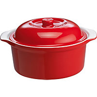Living Large 24cm Casserole Dish - Red.