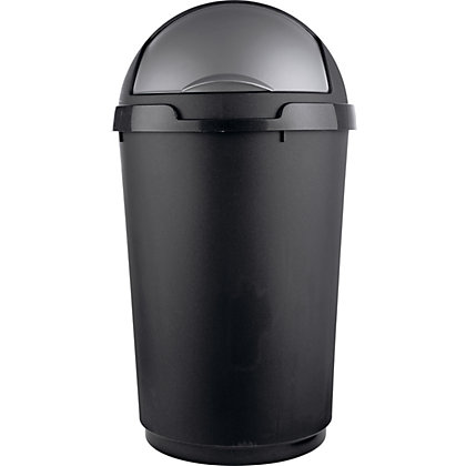 Image for Living 50 Litre Roll Top Bullet Kitchen Bin - Black. from StoreName