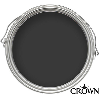 Image for Crown Solo Jet Black - One Coat Gloss Paint - 750ml from StoreName