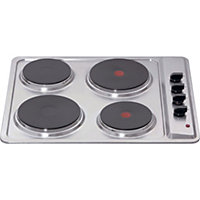 Matrix MHE001SS Four Plate Electric Hob - Stainless Steel