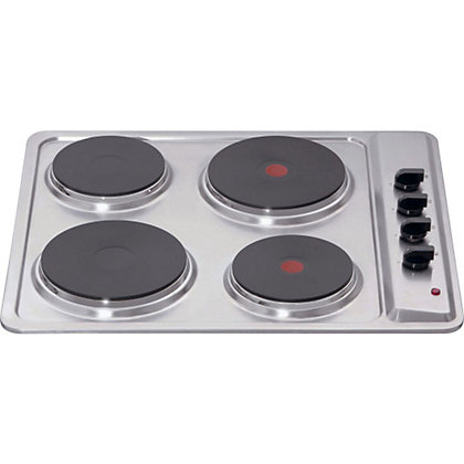 Image for Matrix MHE001SS Four Plate Electric Hob - Stainless Steel from StoreName