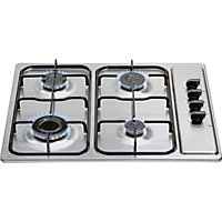 Matrix MHG100SS Four Burner Gas Hob - Stainless Steel