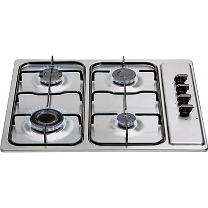 Image for Matrix MHG100SS Four Burner Gas Hob - Stainless Steel from StoreName