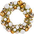 Gold and White Bauble Wreath