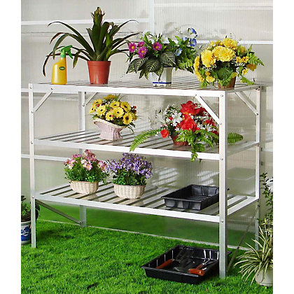 Image for Nison - 3 Tier Greenhouse Staging - Silver from StoreName