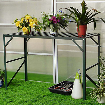 Image for Nison - 1 Tier Greenhouse Staging - Dark Green from StoreName