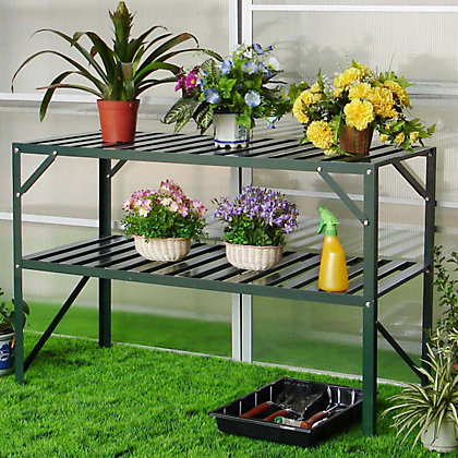 Image for Nison - 2 Tier Greenhouse Staging - Dark Green from StoreName