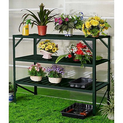 Image for Nison - 3 Tier Greenhouse Staging - Dark Green from StoreName