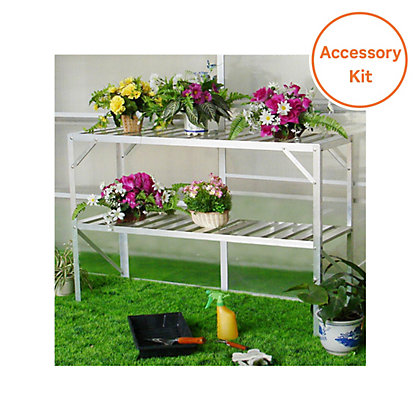 Image for Nison Greenhouse Accessory Pack - 10ft x 8 ft from StoreName
