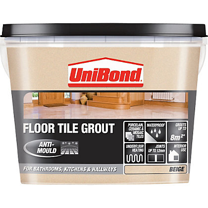 Image for Unibond Ready Mixed Floor Grout Beige – 3.75kg from StoreName