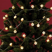 Warm White LED Star Light Christmas Tree Topper 194373