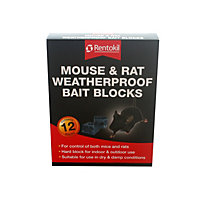 Rentokil Mouse and Rat Weatherproof Bait Blocks (Pack of 12 blocks)