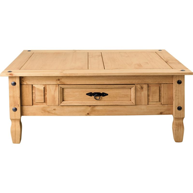 Aruba solid coffee table with drawer pine Pine coffee table with drawers