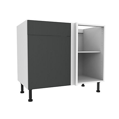 Image for Simply Hygena Chancery - Grey - 1000mm Premium Drawer Line Corner Base Unit from StoreName