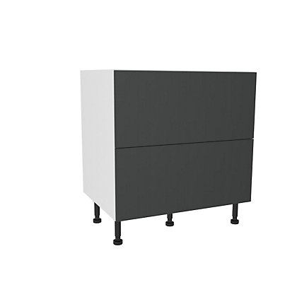 Image for Simply Hygena Chancery Grey Pan Drawer Base Unit - 2 Drawer - 800mm from StoreName
