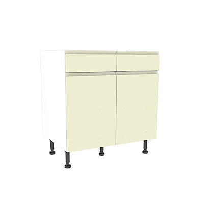 Image for Simply Hygena Kensal - Cream - 800mm Standard Drawer Line Base Unit from StoreName