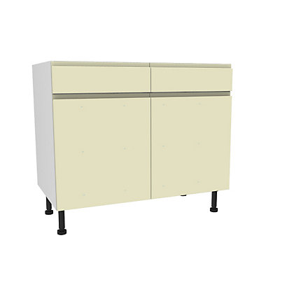 Image for Simply Hygena Kensal - Cream - 1000mm Standard Drawer Line Base Unit from StoreName