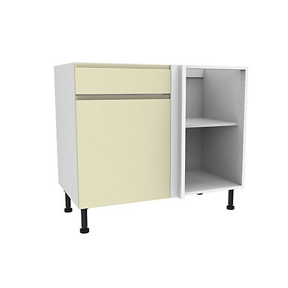 Image for Simply Hygena Kensal Cream Drawer Line Corner Base Unit - 1000mm (Standard) from StoreName
