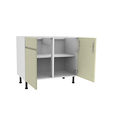 Image for Simply Hygena Kensal Cream Dummy Drawer Line Corner Base Unit - 1000mm from StoreName