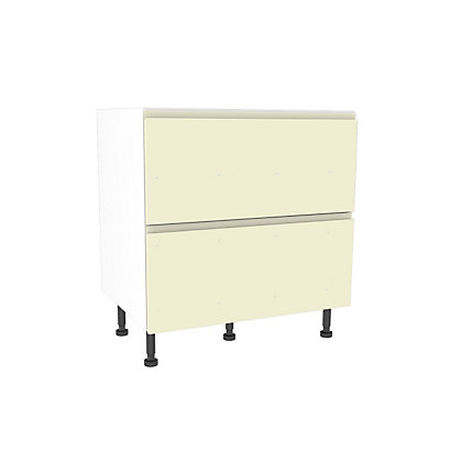 Image for Simply Hygena Kensal Cream 2 Drawer Base Unit - 800mm (Premium) from StoreName