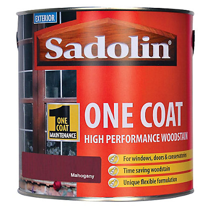 Image for Sadolin Advanced One Coat Woodstain - Mahogany - 2.5L from StoreName