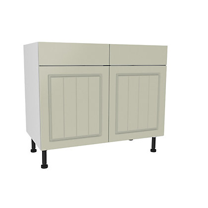 Image for Simply Hygena Chesham Cream Dummy Drawer Line Base Unit - 1000mm from StoreName