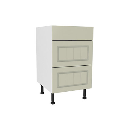 Image for Simply Hygena Chesham Cream 3 Drawer Base Unit - 500mm (Premium) from StoreName