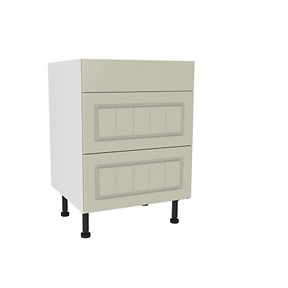 Image for Simply Hygena Chesham - Cream - 600mm Premium 3 Drawer Base Unit from StoreName