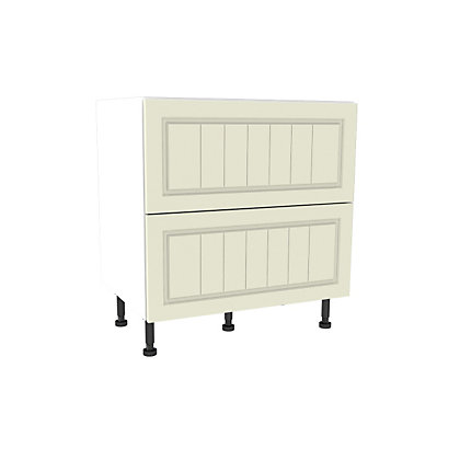 Image for Simply Hygena Chesham - Cream - 800mm 2 Drawer Pan Base Unit from StoreName