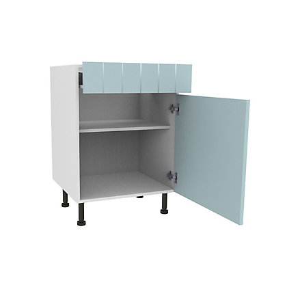 Image for Simply Hygena Turnham - Blue - 600mm Premium Drawer Line Base Unit from StoreName