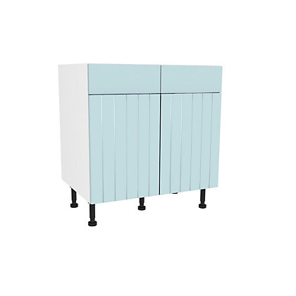 Image for Simply Hygena Turnham - Blue - 800mm Premium Drawer Line Base Unit from StoreName