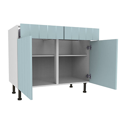 Image for Simply Hygena Turnham - Blue - 800mm Dummy Drawer Line Base Unit from StoreName