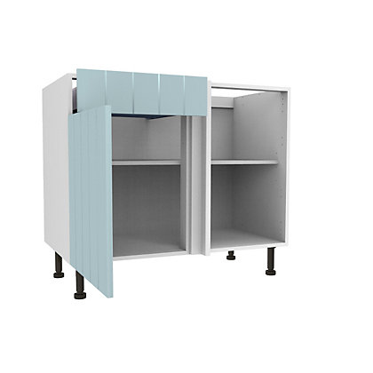 Image for Simply Hygena Turnham - Blue - 1000mm Drawer Line Corner Base Unit from StoreName