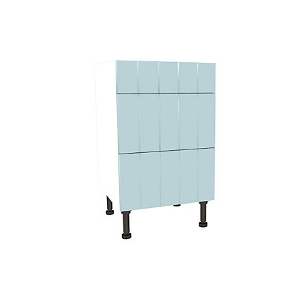 Image for Simply Hygena Turnham - Blue - 500mm Premium 3 Drawer Base Unit from StoreName