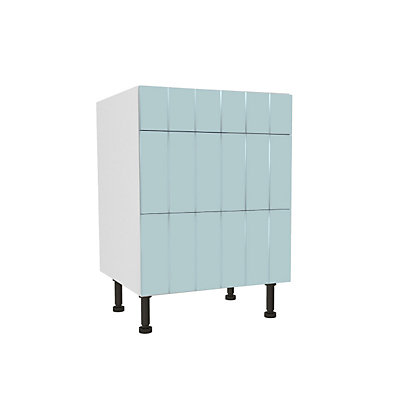 Image for Simply Hygena Turnham - Blue - 600mm Premium 3 Drawer Base Unit from StoreName