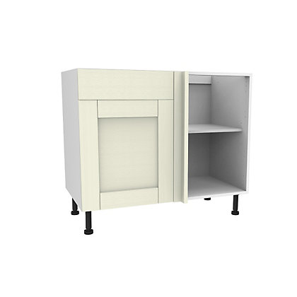 Image for Simply Hygena Southfield Ivory Dummy Drawer Line Corner Base Unit - 1000mm from StoreName