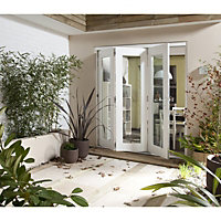 Wellington White Folding Sliding Patio Doorset - 1805mm Wide