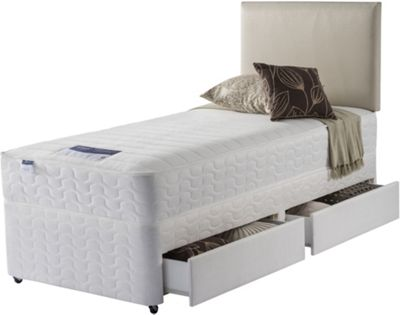 Image of Silentnight Daisy Miracoil Beige 2 Drawer Single Divan