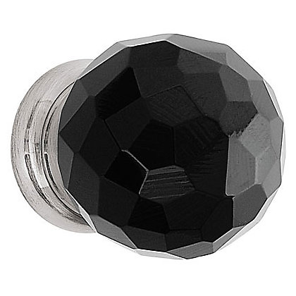 Image for Faceted Glass Door Knob - Black Nickel - 30mm from StoreName