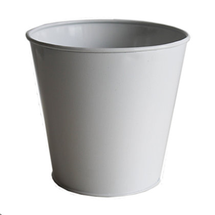 Image for Metal Indoor Plant Pot in White - 13cm from StoreName