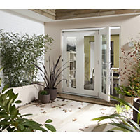 Wellington White Folding Sliding Patio Doorset - 2105mm Wide