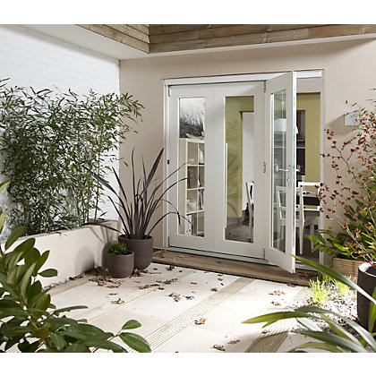 Image for Wellington White Folding Sliding Patio Doorset - 2105mm Wide from StoreName
