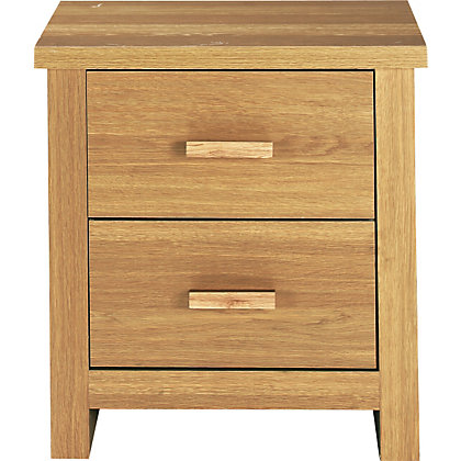 Image for winchester oak bedside chest from storename for Winchester bedroom furniture
