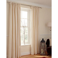 Value Cream Pencil Pleat Curtains - 66 x 54in