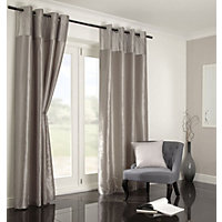 Home of Style Velvet Silver Curtains - 66 x 54in