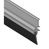 Stormguard Door Strip Rubber - Polish Aluminium