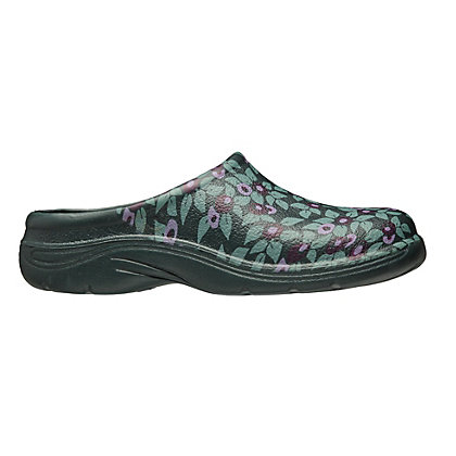 Image for Ladies Plum Floral Clogs - Size 7 from StoreName