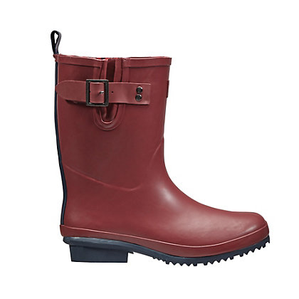 Image for Briers Claret Half Rubber Boots in Claret - Size 5 from StoreName