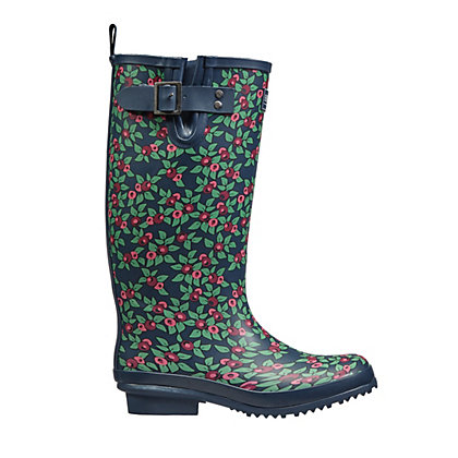 Image for Ladies Plum Floral Rubber Wellies - Size 6 from StoreName