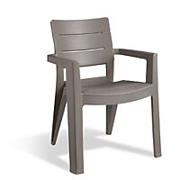 Keter Ibiza Stacking Garden Chair - Taupe